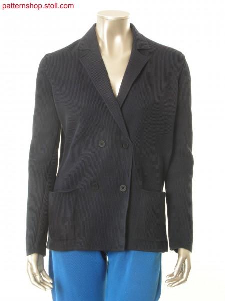 Fully Fashion blazer in half milano-drop-stitch structure / Fully Fashion Blazer in Halbschlauch-Struktur mit Nadelzug
