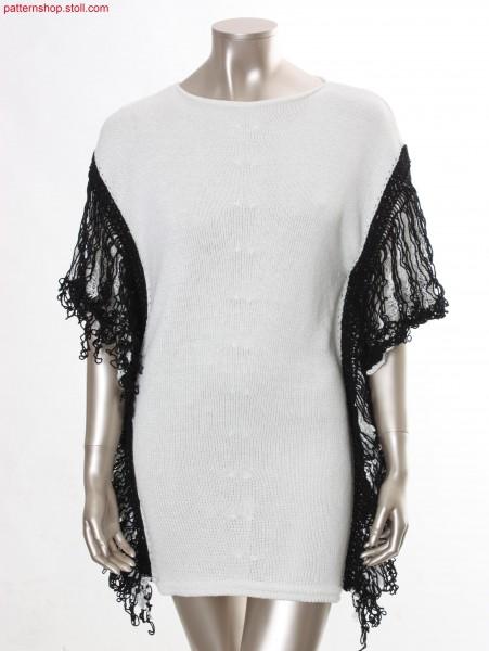 Jersey dress in V-line with overlapped shoulder / Rechts-Links Kleid in V-Linie mit