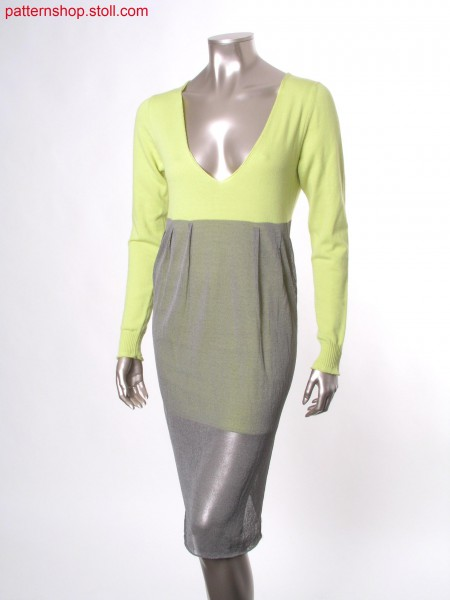Reversible Fully Fashion jersey dress in layering-look / Fully Fashion Rechts-Links Wendekleid im Lagen-Look
