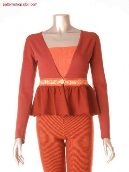 Fully Fashion jersey peplum jacket / Fully Fashion Rechts-Links Sch