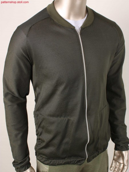 Jacket with lateral ventilating areas / Jacke mit seitlichen L