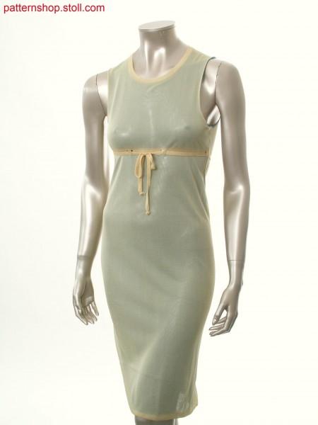 Fully Fashion empire dress in 2-colour tubular fabric / Fully Fashion Empirekleid in 2-farbigem Schlauchgestrick