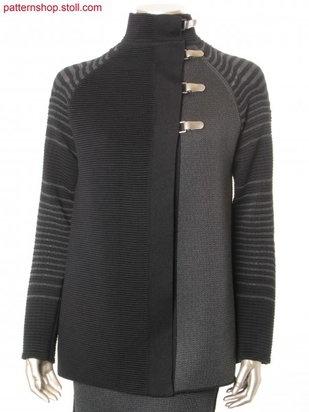Fully Fashion cardigan in 2-colour wave structure / Fully Fashion Strickjacke in 2-farbiger Wellenstruktur