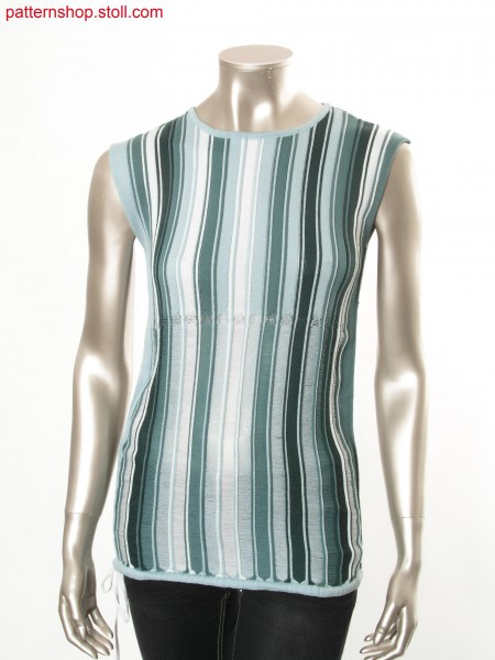 Intarsia top with vertical stripes / Intarsia Top mit L