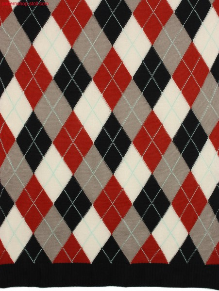 Argyle intarsia pattern with 26(29) yarn carriers / ArgyleIntarsiamuster mit 26(29) Fadenf
