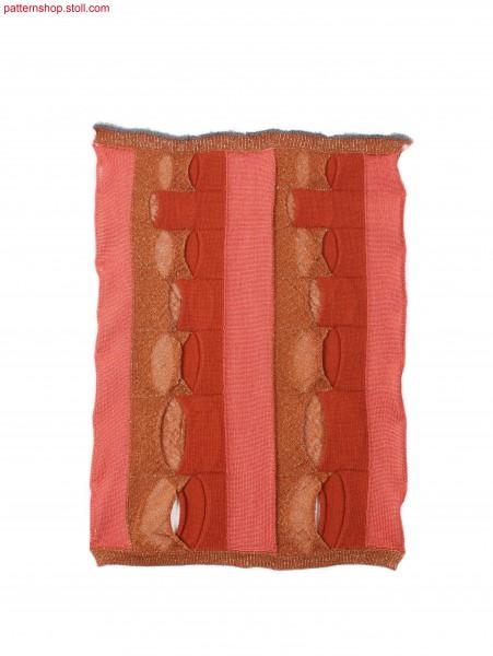 Swatch with vertical intarsia stripes / Musterausschnitt mit vertikalen Intarsia-Streifen