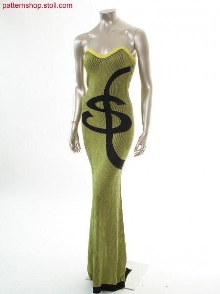 Fitted bustier dress with 2-colour jacquard motif / Tailliertes Bustierkleid mit 2-farbigem Jaquardmotiv