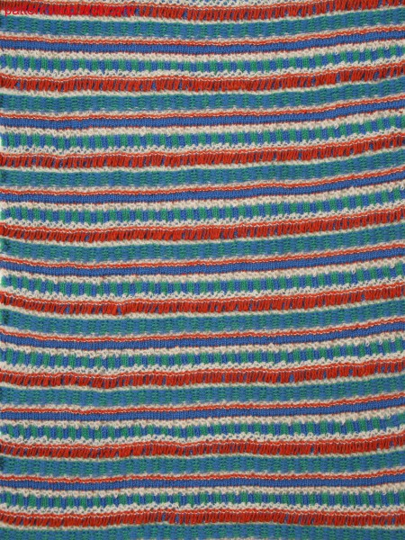 4-color stripe pattern with ripple structure, pointelle and float jacquard