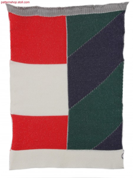 Swatch with selective and intarsia plated stripes / Musterausschnitt mit selektiv-und Intarsia plattierten Ringeln