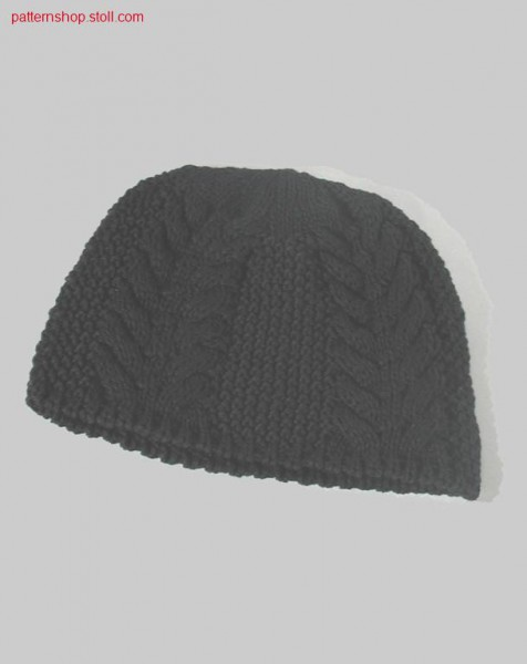 Knit cap with cable-rice grain structures / Strickm