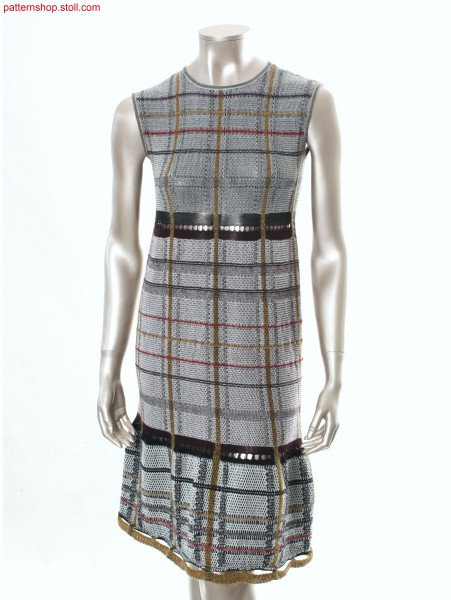 Intarsia dress with tartan pattern / Intarsia Kleid mit Tartanmuster