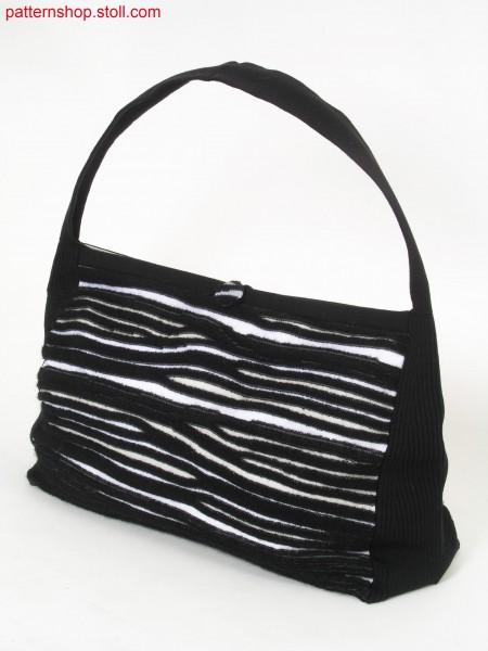 Shoulder bag with gored jersey-plush stripes / Umh