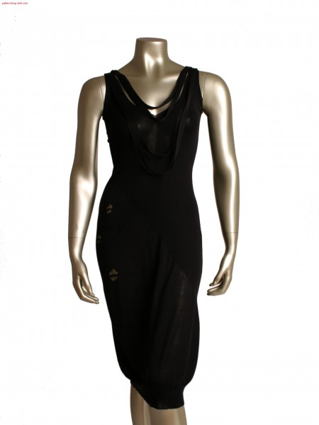 Fully Fashion evening dress in 1X1 rib and single jersey structure, with float motifs