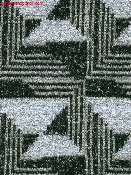 3-colored stripe jacquard