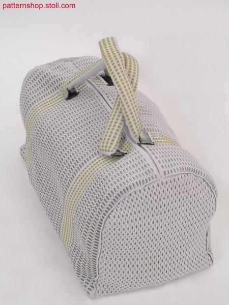 Casual bag in ringed and gored wave structure / Freizeittasche in geringelter und gespickelter Wellenstruktur