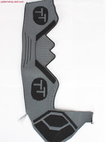 Shoe-upper design idea with shaping by gore technique / Schuhoberteil-Designidee mit Formgebung durch Spickeltechnik.