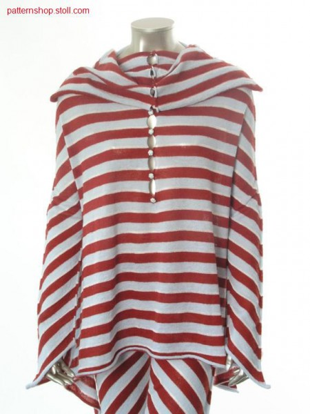 Trapeze-shaped ringed jersey pullover / Trapezf