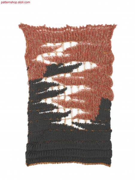 Swatch in intarsia wave structure / Musterausschnitt in Intarsia-Wellenstruktur
