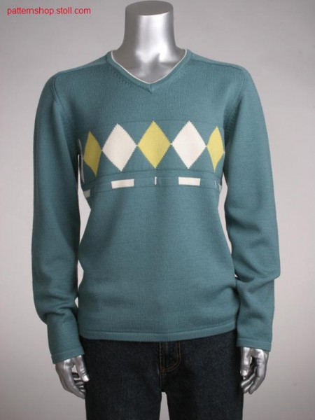 Fully fashion jersey pullover with saddle shoulder / Fully Fashion Rechts-Links Pullover mit Sattelschulter