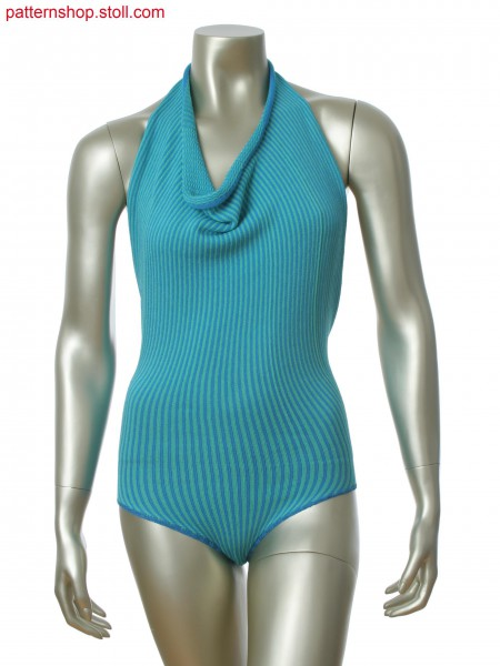 Stoll-knit and wear&reg body with 2-color float jacquard in gore technique