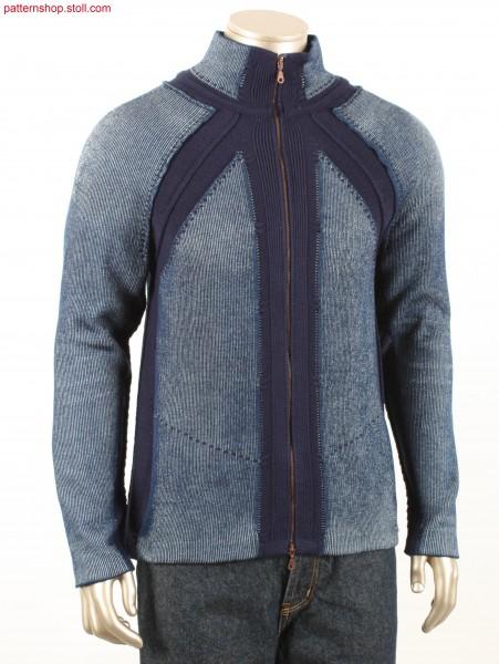 Denim Fully Fashion raglan cardigan / Fully Fashion Jeans-Raglanstrickjacke