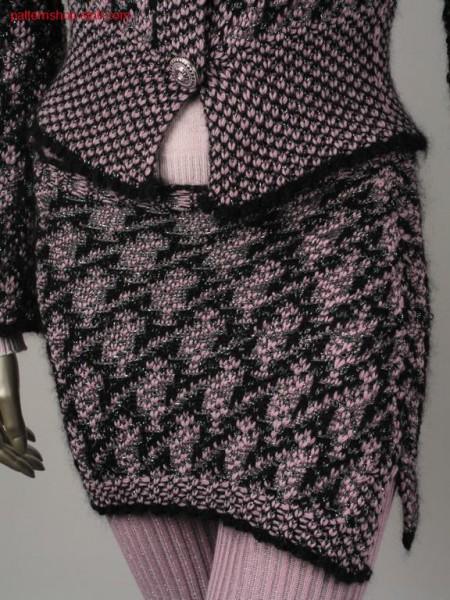 Jacquard mini skirt with linked-off 2x2 waist / Jacquard Minirock mit abgeketteltem 2x2 Bund