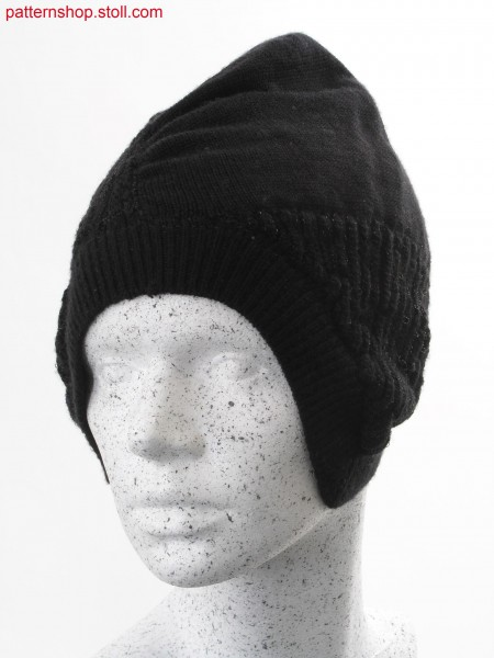 Jersey cap with gored earflaps / Rechts-Links M