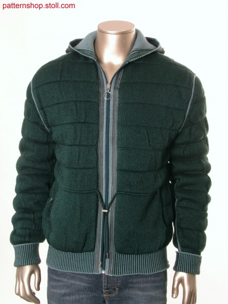 Fully Fashion hooded quilted cardigan / Fully Fashion Kapuzen-Steppstrickjacke