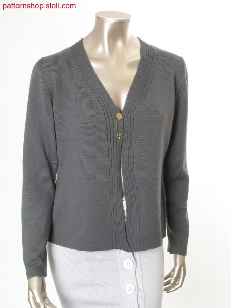 Fitted Fully Fashion jersey cardigan / Taillierte Fully Fashion Rechts-Links Strickjacke