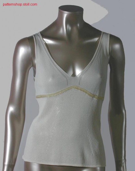 FF-front (top) with floated stripe border in wedgeform technique