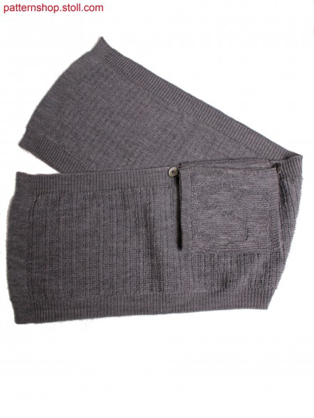 belt with integrated pocket in plush optic