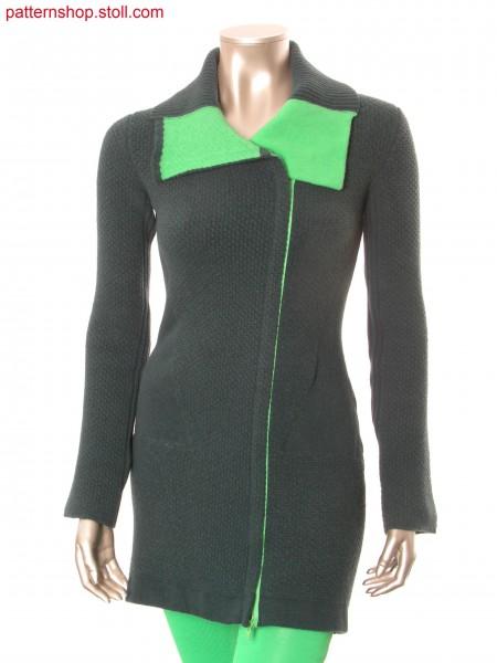 Felt-like Fully Fashion-intarsia short coat / Filzartiger Fully Fashion-Intarsia Kurzmantel