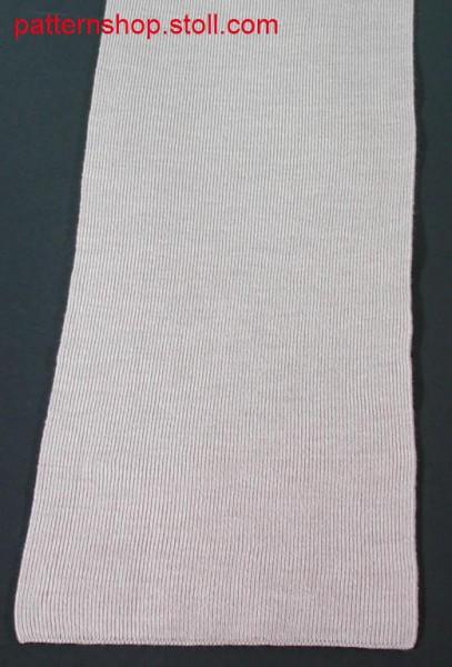 Scarf in half-cardigan stitch / Perlfangschal