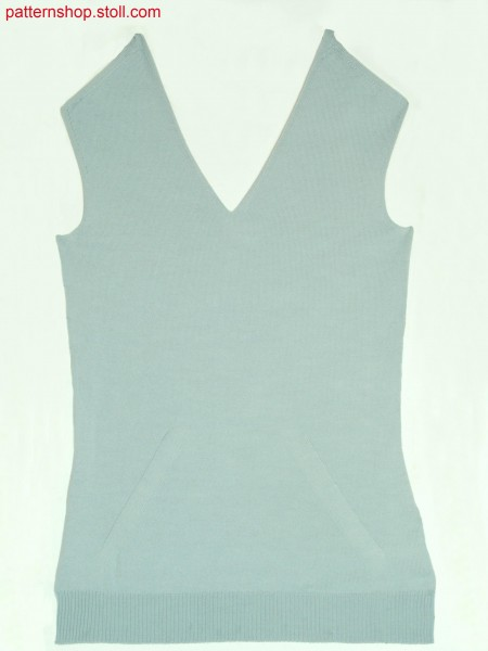 Fitted Fully Fashion jersey front / Tailliertes Fully Fashion Rechts-Links Vorderteil
