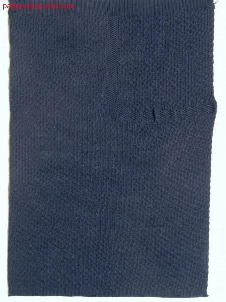 Swatch in tubular-structure fabric  / Musterausschnitt in Schlauch-Strukturgestrick