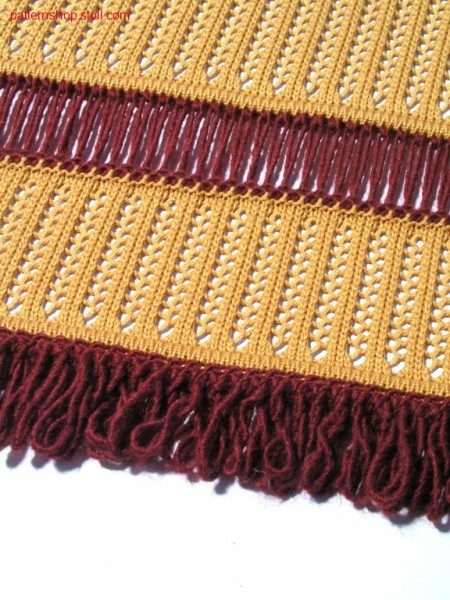 Pointelle pattern with fringes / Petinetmuster mit Fransen