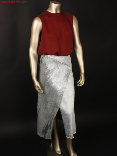 Shiny wrap skirt / Glanz-Wickelrock