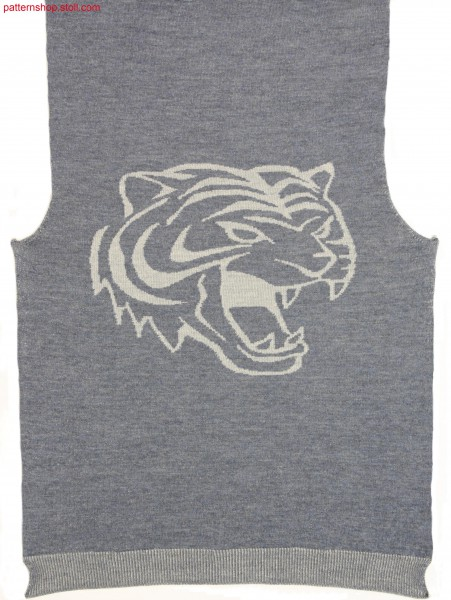 Fully Fashion front with inverse plated tiger head motif /Fully Fashion Vorderteil mit wendeplattiertem Tigerkopf-Motiv