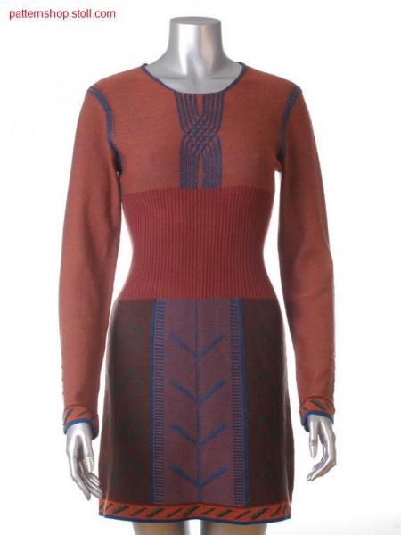 Fully Fashion-Intarsia dress with jacquard bordure / Fully Fashion-Intarsia Kleid mit Jacquardbord