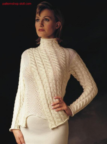 FF-Intarsia pullover with diagonal cables / FF-Intarsia Pullover mit schr