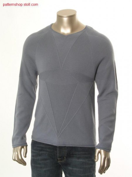 Raglan pullover with diamant cut motive / Raglanpullover mitDiamantschnitt-Motiv