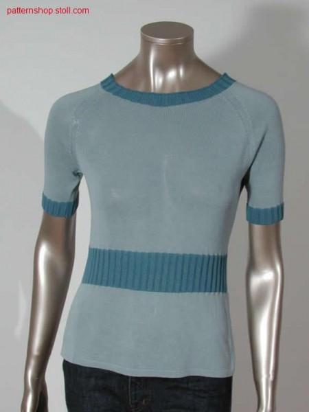 Pullover with lateral open tubularslots / Pullover mit seitlichen Schlauchschlitzen.