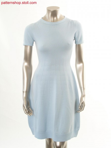 Jersey dress in Fair Isle look with needle stripes / Rechts-Links Kleid in Fair Isle Optik mit Nadelstreifen