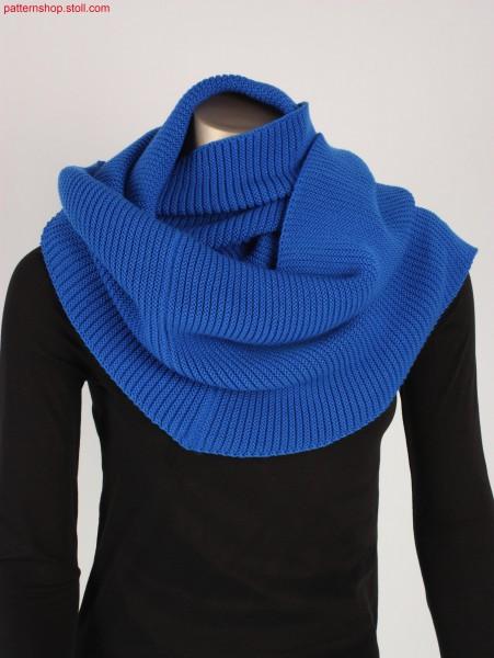 Loop scarf with jersey transfer stripes / Loop-Schal mit Rechts-Links Strukturringeln