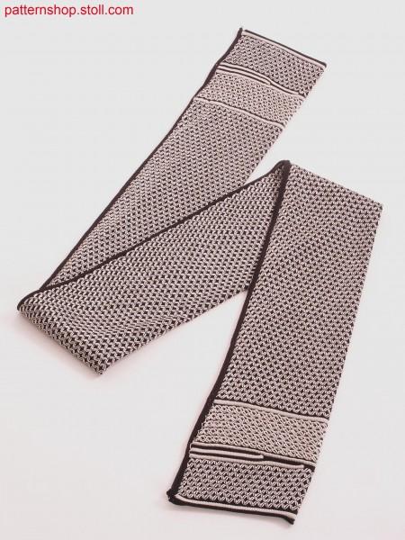 Scarf with various fancy stitches / Schal mit verschiedenen Zierstichen