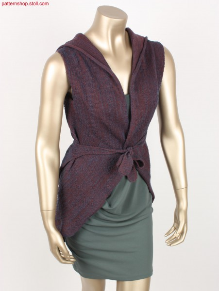 Woman hooded wrap-over vest / Damen Kapuzen-Wickelweste
