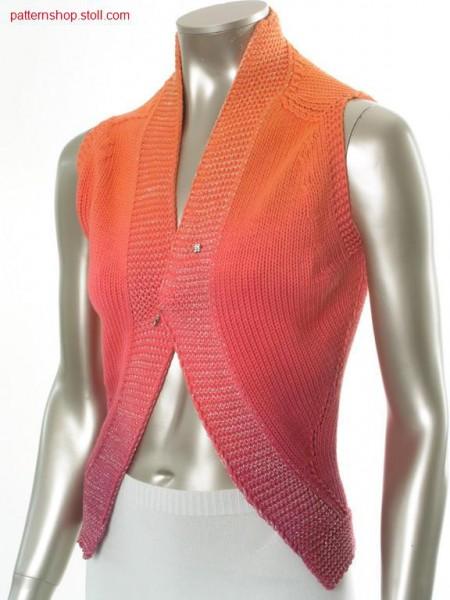 Jersey waistcoat in tie-dye-technique / Rechts-Links Weste in Bandana-Technik