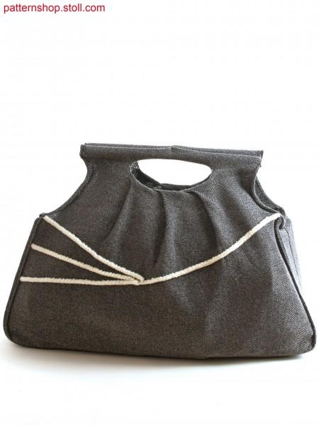 Stoll-flexible gauge&reg 10GG optic Handbag in gore technique with pleats