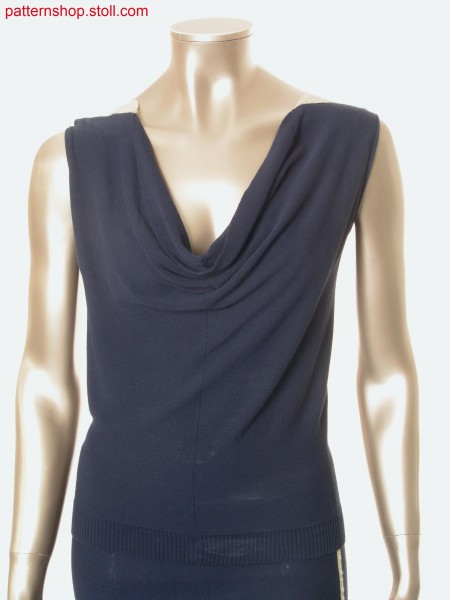 Jersey top, crosswise to knitting direction / Rechts-LinksTop mit Maschenverlauf quer zur Strickrichtung