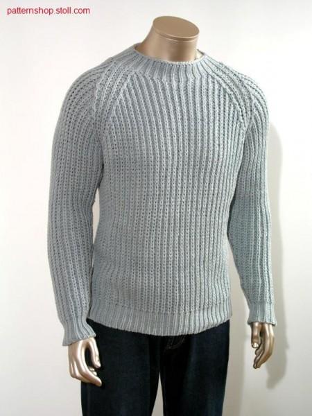 Halfcardigan raglan pullover / Perlfang Raglan Pullover
